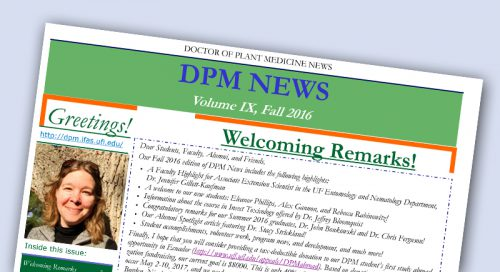 image of fall 2016 newsletter